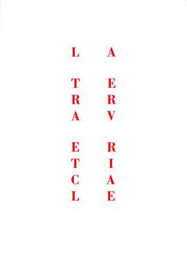 copertina tipografica con cordonatura centrale