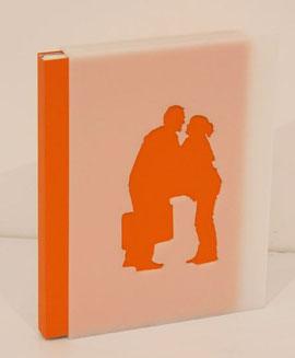 cofanetto-scultura contenente il libro a fogli sciolti
