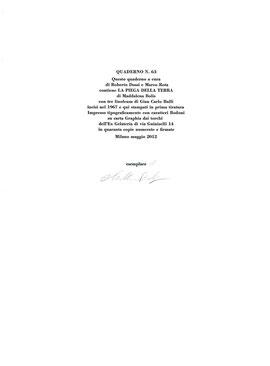 colophon numerato e firmato all'autrice