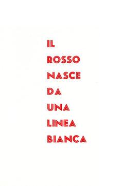 pagina tipografica stampata in rosso