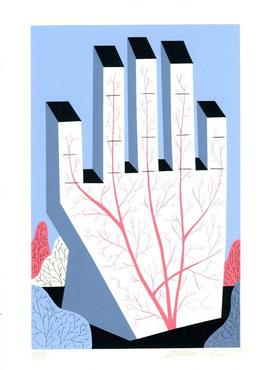 serigrafia originale di Manuela Bertoli (misura  230x145 mm)