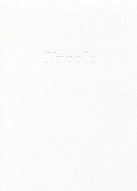 cofanetto grigio a fascia con stampa a secco del titolo