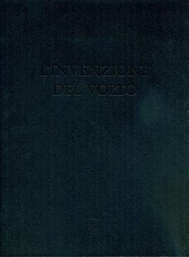 """copertina de """"L'invenzione del volto"""" stampata in nero su nero a secco"""
