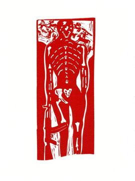 linoleum originale di Luciano Ragozzino (misura 205x80 mm)
