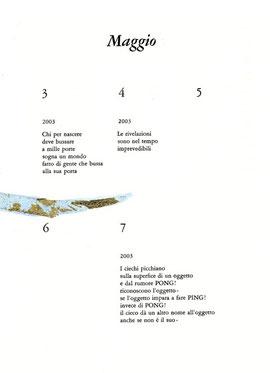 pagina tipografica con intervento originale dell'autore