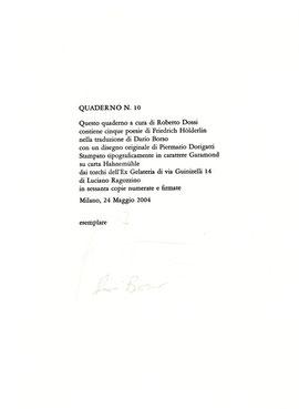 olophon numerato e firmato