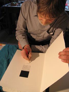 """Gianfranco Pardi firma il colophon di """"Breviario"""""""