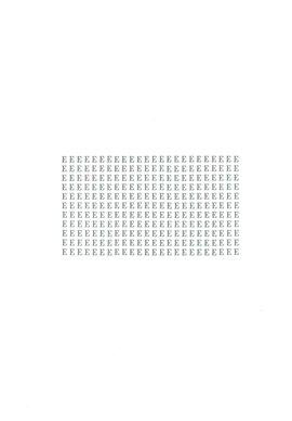 pagina tipografica stampata in grigio