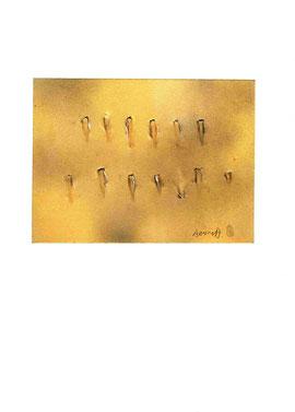 opera originale dell'artista, che ha firmato e apposto il suo sigillo a punzone (misura 145x200 mm)