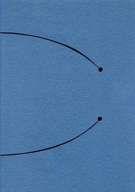 """intervento dell'artista sulla copertina del quaderno """"Ombre"""""""