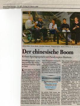Kölner Stadt Anzeiger - 24. Oktober 2008