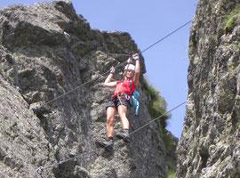 Der Falkenklettersteig im Sommer 2009 - nur etwas für Geübte!
