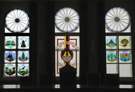 Wappenscheiben im Rathaus Zeulenroda
