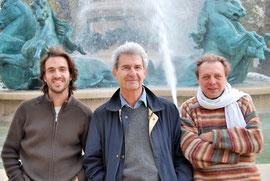 de gch. à dr. Stanislas Grassian, Jean-Claude Penchenat, Alain Batis