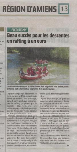 Canoe kayak somme en rafting à Picquigny