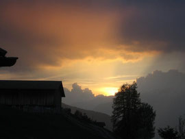"""Sonnenuntergang aus meinem Wohnzimmer in """"Fraumatta"""" Praden"""
