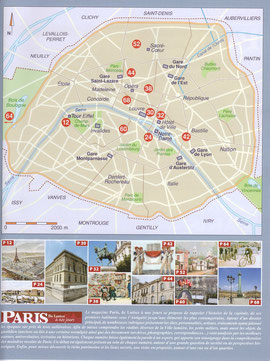 Localisation des articles sur un plan de Paris.