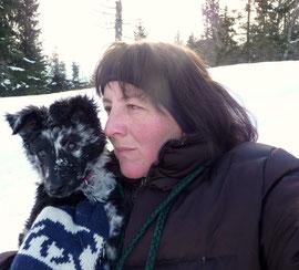 Carole Stähelin mit Arany vom Schmugglerpfad