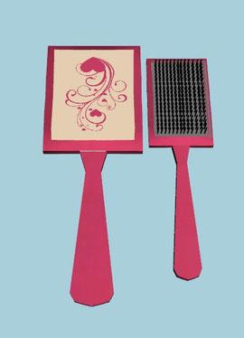 miroir et brosse (clutter)