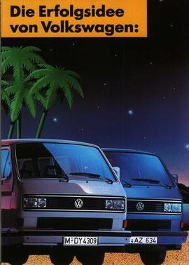 Reclame voor de speciale modellen Multivan Whitestar en Bluestar, 1990