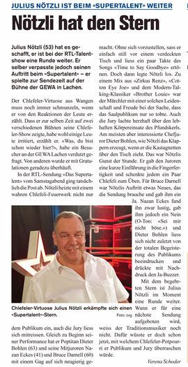 #Das Supertalent #Dieter Bohlen  #Dä Nötzli mit dä Chlötzli #Chlefele #Julius Nötzli