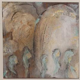 Nonnen zum klösterlichen Gebet schreitend (Ursula Breitenmoser)