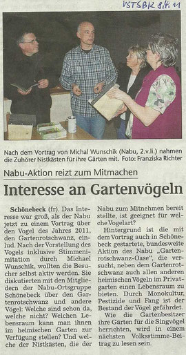 Volksstimme Schönebeck vom 8. April berichtete