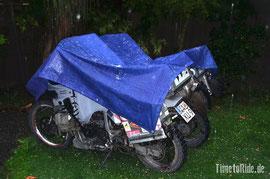 Neuseeland - Motorrad - Weltreise - Christchurch - Hagel und Gewitter