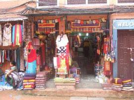ネパールの仏具店