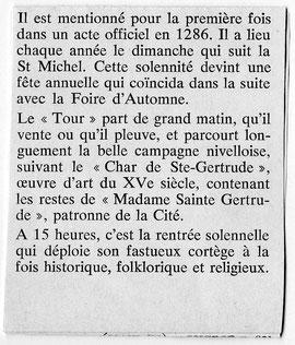 """Article de Marcel Brabant paru dans les Cahiers """"Toison d'Or"""" de 1974"""