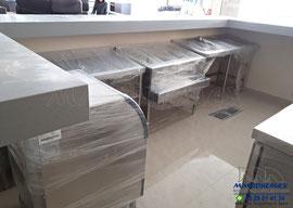 Muebles de acero inoxidable, muebles para restaurantes