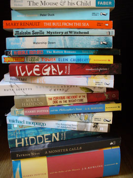 My stack of books - old and new.