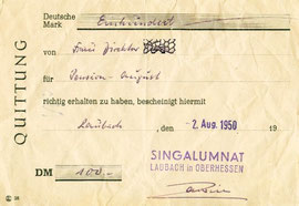 Quittung 1950