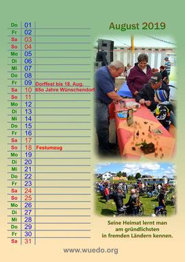 Bild: Wünschendorf Kalender 2019