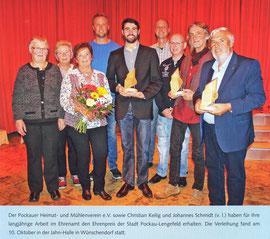 Bild: Wünschendorf Chronik 2019 Wünschendorf Ehrenpreisverleihung 2019