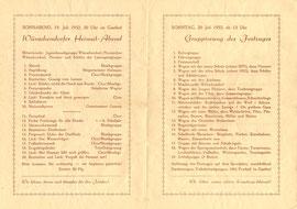 Bild: 1952 Wünschendorf Festprogramm