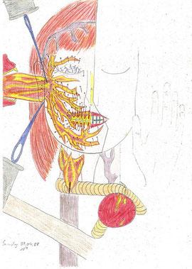 """""""Trigeminusneuralgie"""" Zeichnung von Andrea"""