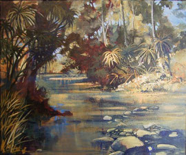 acrylic painting Pandau Creek