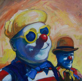Portrait, clowns
