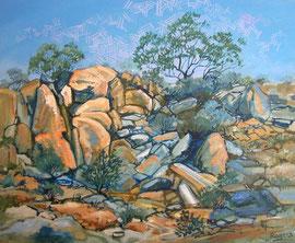 Acrylic painting-Rockscape