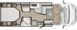 Grundriss Mobilvetta K-Silver 59