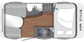 Grundriss LMC Caravan Style 420 D