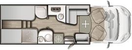 Grundriss Mobilvetta K-Silver 56
