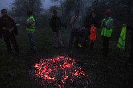 Levée du campement aux aurores brouillardeuses, à la faveur du changement d'heure d'hiver