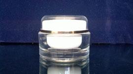 pomadera acrílico doble fondo 30 para cremas cosméticas
