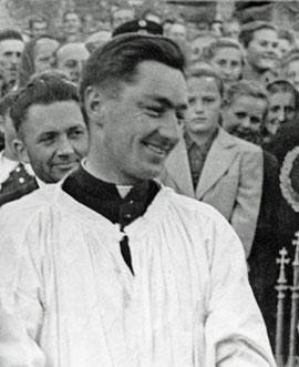 Fotoausschnitt anlässlich der Primiz 1955.