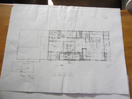 既存の住宅の平面図を検討