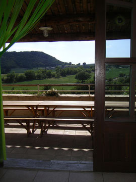 Ausblick auf die Hügel der Provence