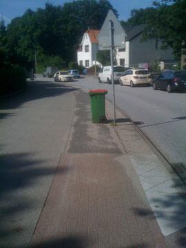 Niendorfer Straße in Lokstedt an einem anderen Tag