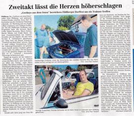 orginaler Zeitungsbericht